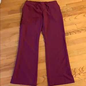 Jockey Burgundy Scrub pants